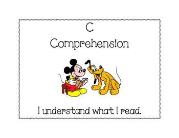 Disney CAFE poster - Comprehension