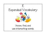 Disney CAFE poster - Expanded Vocabulary