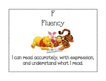 Disney CAFE poster - Fluency