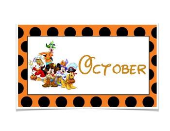 Disney Calendar Months
