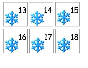 Disney Calendar Pieces - Frozen Theme - January - Winter