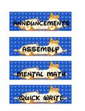 Disney Car Schedule Cards