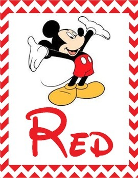 Disney Character Colors
