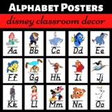 Disney Characters Alphabet Posters
