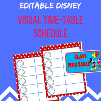 Disney Class Time Table Schedule