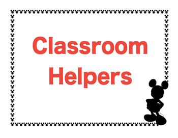 Disney Classroom Helpers