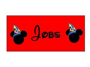 Disney Classroom Jobs Sorcerer Mickey