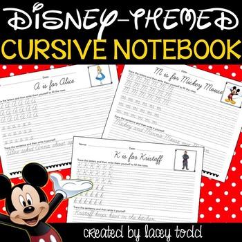 Disney Cursive Worksheets