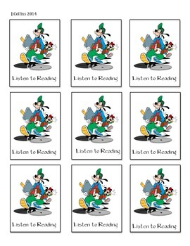 Disney Daily 5 Choice Cards-Listen to Reading