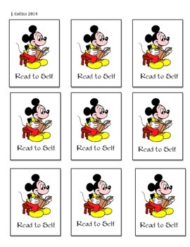 Disney Daily 5 Choice Cards-Read to Self