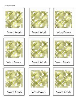 Disney Daily 5 Choice Cards-Word Work