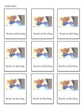 Disney Daily 5 Choice Cards-Work on Writing