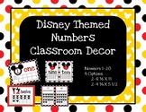 Disney Decor Classroom Numbers