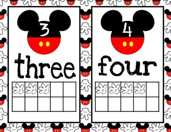 Disney Inspired Decor Classroom Numbers Posters