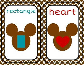 Disney Inspired Classroom Decor: Shape and Color Posters