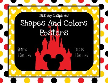 Disney Decor Shapes and Colors