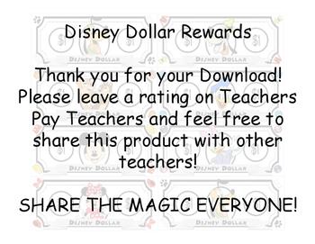 Disney Dollar Dollars