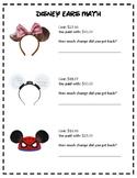 Disney Ears Math - Making Change