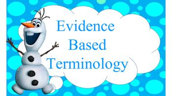 Disney Evidence Based Terms