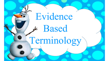 Disney Evidence Based Terms