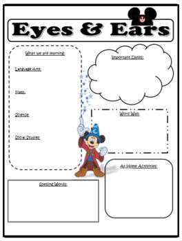 Disney - Eyes and Ears Newsletter (Editable)