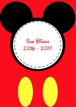 Disney Fab 5 Sub Binder ****EDITABLE****