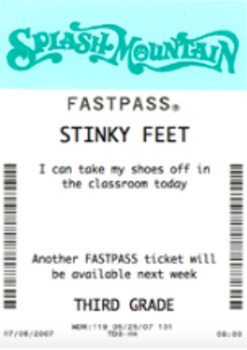 Disney Fastpass Coupons/Reward
