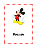 Disney Folder Covers and Labels