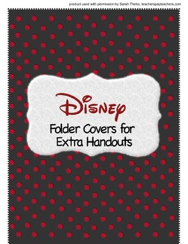 Disney Folder Covers- extra folders