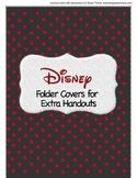 Disney Folder Covers- extra folders
