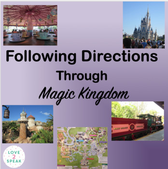 Disney - Following Directions Through Magic Kingdom with Real Pictures