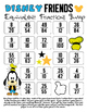 Disney Inspired Mickey and Friends Equivalent Fractions Bump Games