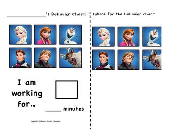 Disney Frozen Token Behavior Chart!