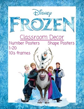 disney frozen classroom decor numbers and shapes - Disney Frozen Picture Frames