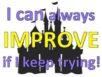 Disney Growith Mindset Mini Posters