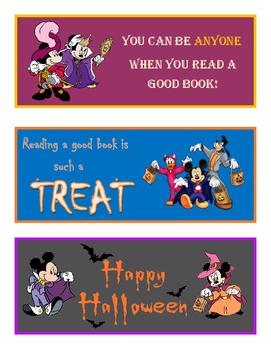 Disney Halloween Bookmarks