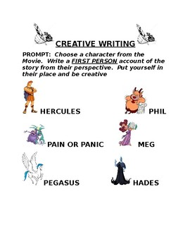 Disney Hercules Creative Writing Prompt