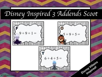 Disney Inspired 3 Addend Scoot