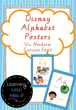 Disney Inspired Alphabet Posters