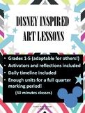 Disney Inspired Art Lessons- FIVE UNITS!