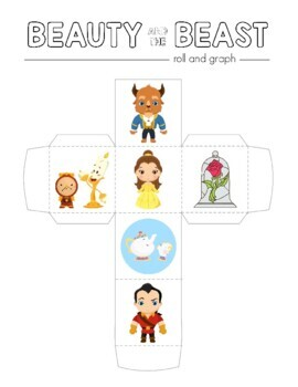 Disney Inspired Beauty & The Beast Roll and Graph Activity and Data Sheets