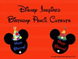 Disney Inspired Birthday Pencil Toppers