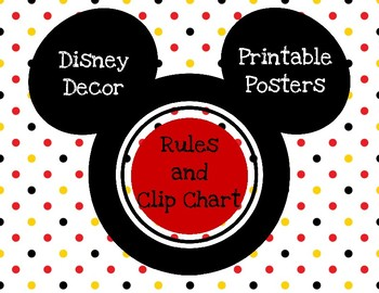 Disney Inspired Clip Chart and Rules Posters