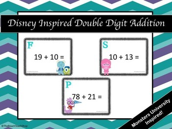 Disney Inspired Double Digit Addition