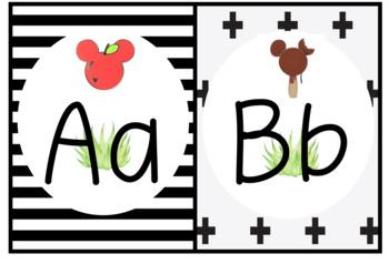 Disney Inspired Food ABC Wall Chart Boho Farmhouse Classroom Decor