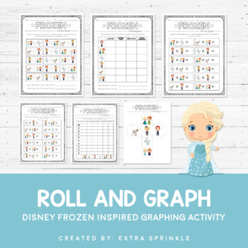 Disney Inspired Frozen Roll and Graph Activity and Data Sheets