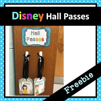 Disney Inspired Hall Passes