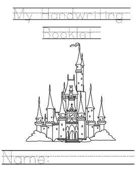 Disney Inspired Handwriting Practice / Review