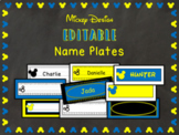 Disney-Inspired Blue Mickey Theme Desk Name Plates Labels