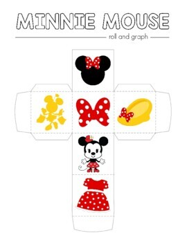Disney Inspired Minnie Mouse Roll and Graph Activity and Data Sheets